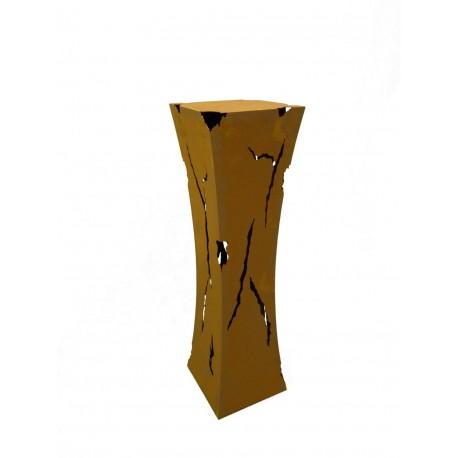 Rost Säule Mystik mit Feuerbehälter 110 cm