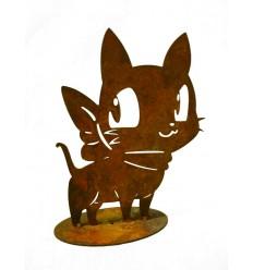 rostige Katze Minka stehend