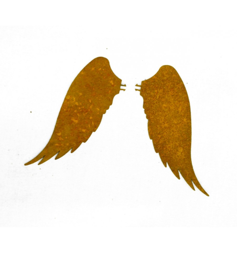 Edelrost Engelsflügel Rostflügel mit Pin zum Stecken Deko Advent Weihnachten