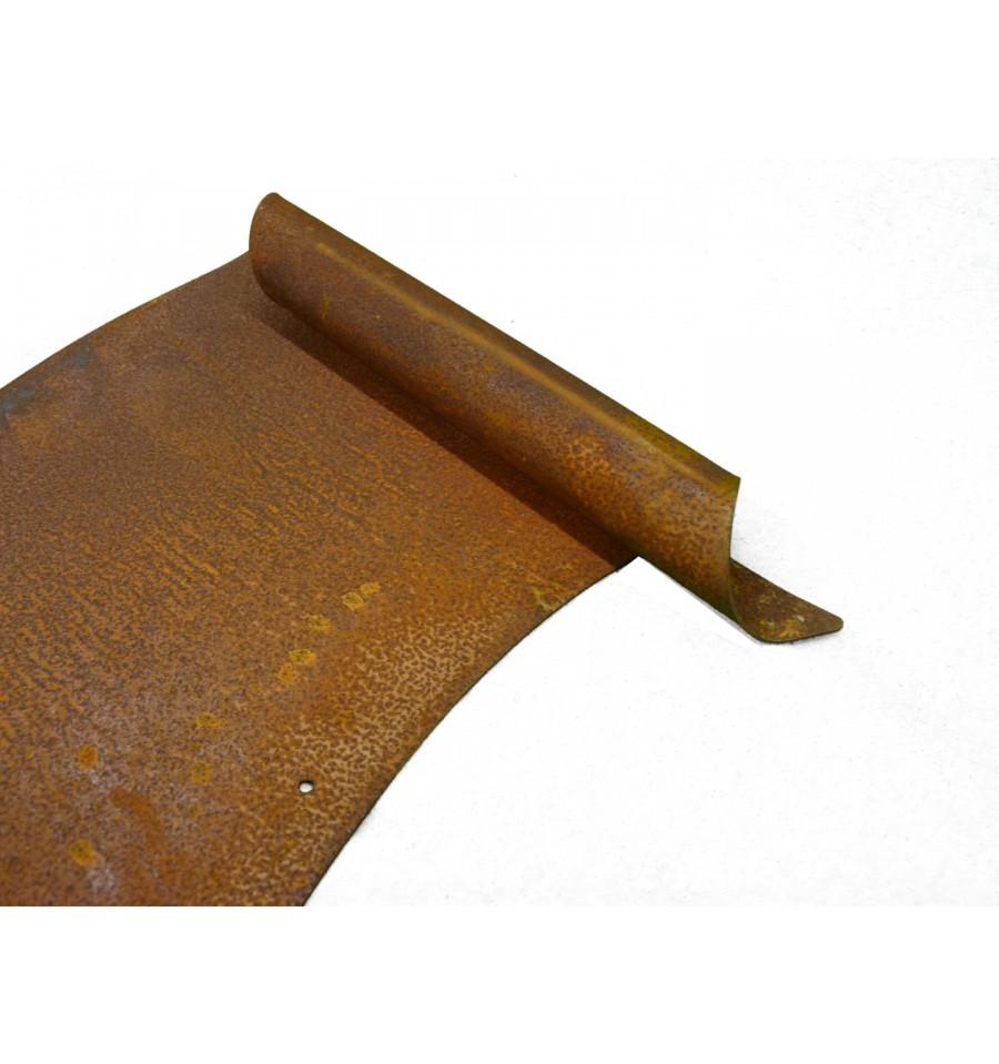 Gro e edelrost schriftrolle zum beschriften 37 cm for Rostschilder garten