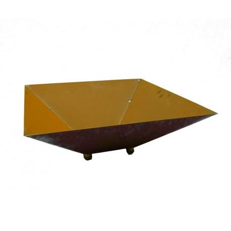 Rost Schale viereckig hoch 44 x 44 cm