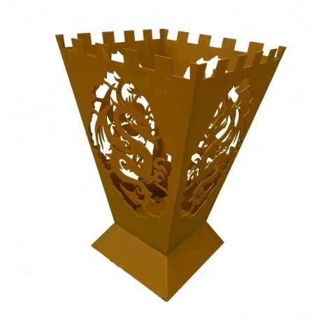 "Feuerkorb ""Fantasy"" mit 4-seitigem Drachenmotiv - Höhe 64 cm"