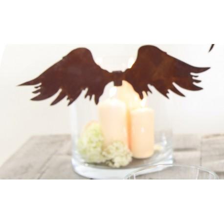 Deko Fügel nach oben - strubbelige Engelsflügel zum einhängen in Gläser und Vasen