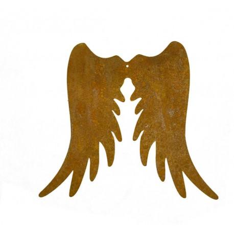 Engelsflügel Edelrost schmal, Höhe 15 cm