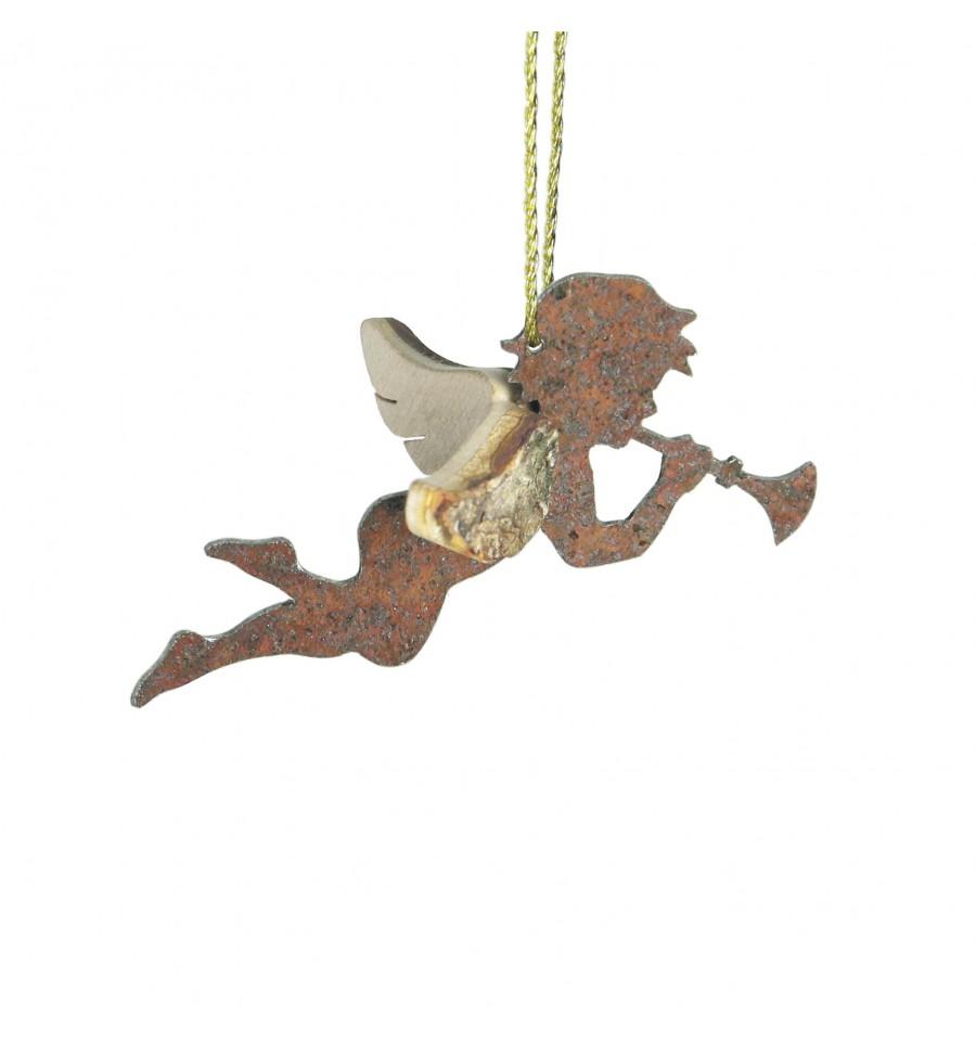 Edelrost engel himmelsbote corilon mit trompete schutzengel for Engel edelrost