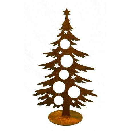 edelrost weihnachtsbaum 60 cm hoch f r christbaumkugeln. Black Bedroom Furniture Sets. Home Design Ideas