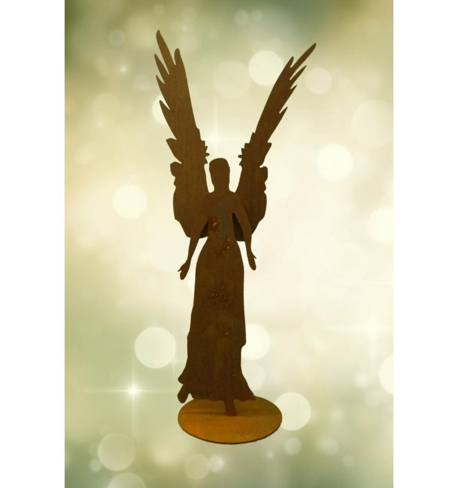 Rost engel celeste aus 3 mm stahl h he 87 cm metallmichl for Weihnachtsdeko aus rost