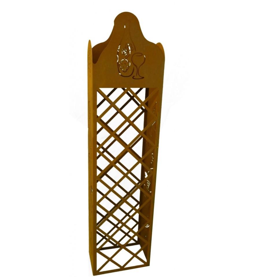 edelrost weinregal 140 cm hoch metallmichl. Black Bedroom Furniture Sets. Home Design Ideas