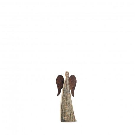 6 cm Rindenengel - Adad - mit rostigen Flügeln