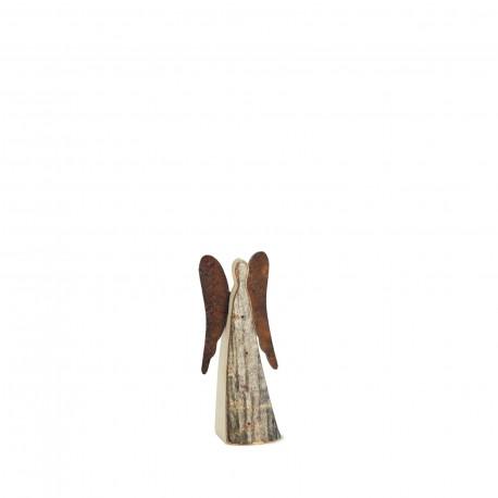 6 cm Rindenengel -Achaiah- mit rostigen Flügeln