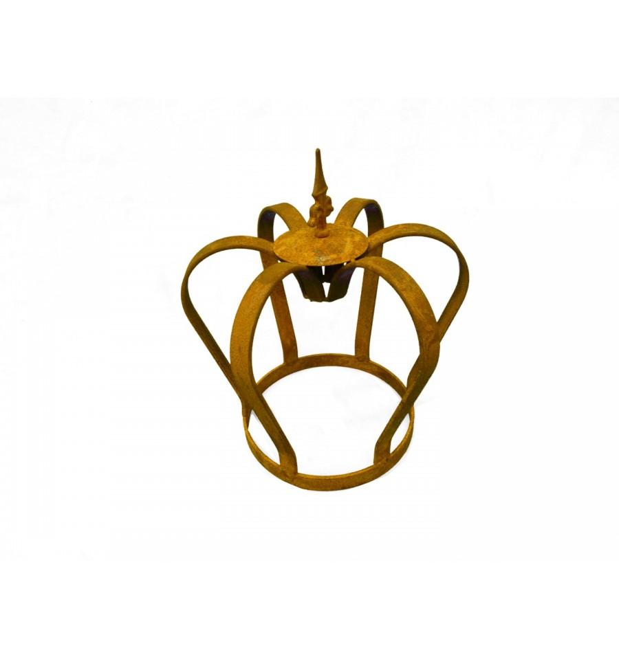 Edelrost krone massiv mit lilienspitze k nigliche deko f r for Gartendeko rost krone