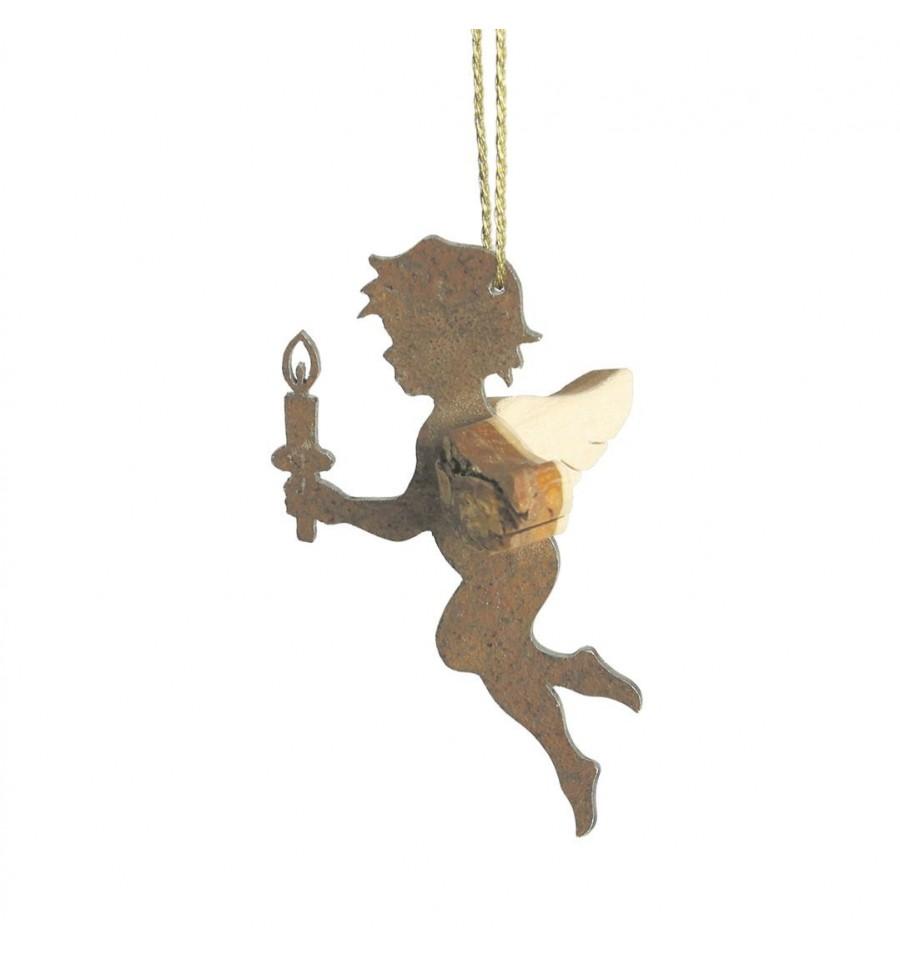 Edelrost engel himmelsbote afriel mit stern schutzengel - Schutzengel basteln aus holz ...