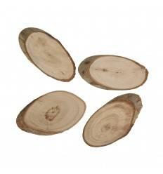 Holz Scheiben oval natur 9cm