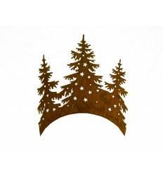3 Tannenbäume aus Edelrost im Halbring - klein - Höhe 40 cm