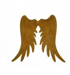 Engelsflügel Edelrost schmal, Höhe 20 cm