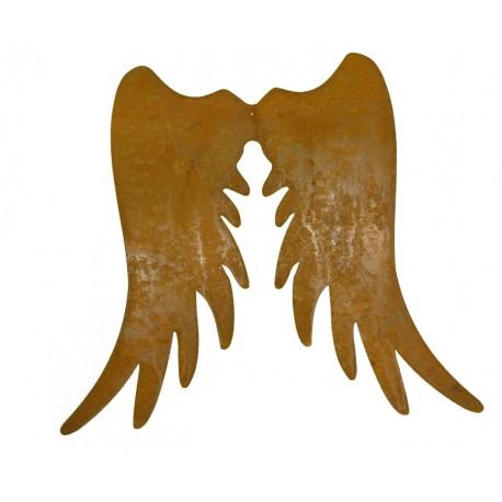 Engelsflügel Edelrost schmal, Höhe 30 cm
