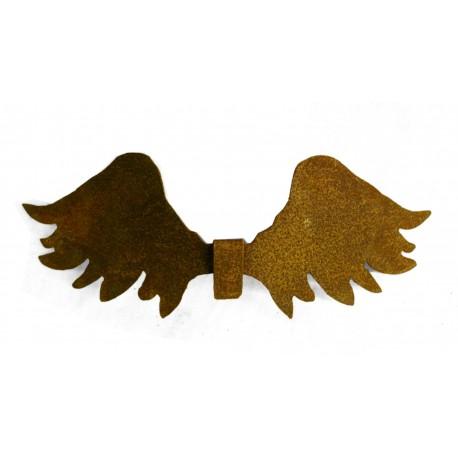Strubbelige Engelsflügel zum Einhängen für Gläser- Weihnachsdeko aus Edelrost