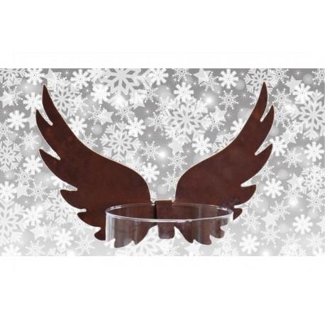 Hohe Engelsflügel zum Einhängen in Gläser und Vasen - kreative Weihnachsdeko aus Edelrost