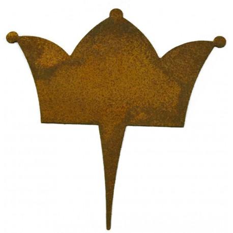 mini Krone als Blumentopfstecker