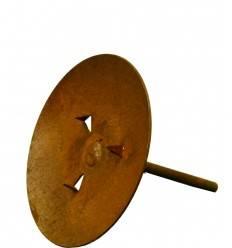 Kerzenteller Ø 9 cm mit Eisenstab