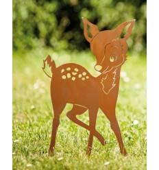 Edelrost Bambi 41 cm hoch