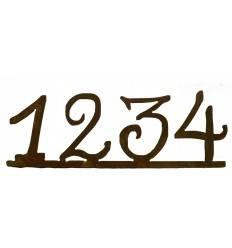 Rost Adventszahlen 1,2,3,4 auf Platte