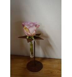Gartendeko Rost Sternständer geschlossen mit Reagenzglas 16 - 18 cm Höhe Edelrost