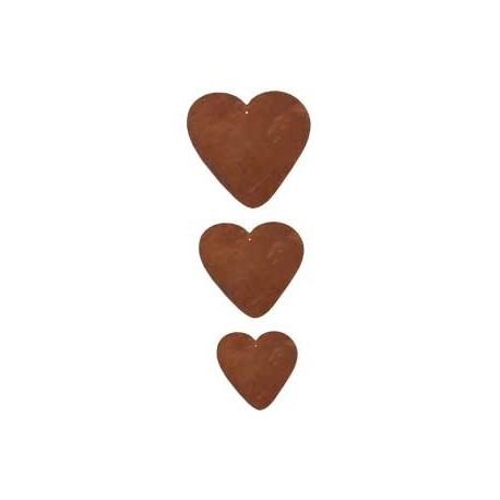 Metall Herzen zum basteln - abgerundete Herzform