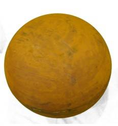 Kugel Edelrost 20 cm Ø geschlossene Dekokugel