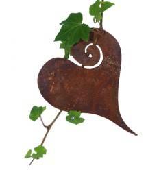 Herz Curl zum Aufhängen 12 cm Ø