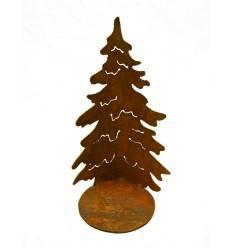 Gebogene Tanne 'Christbaum' auf Platte, Höhe 29,5 cm