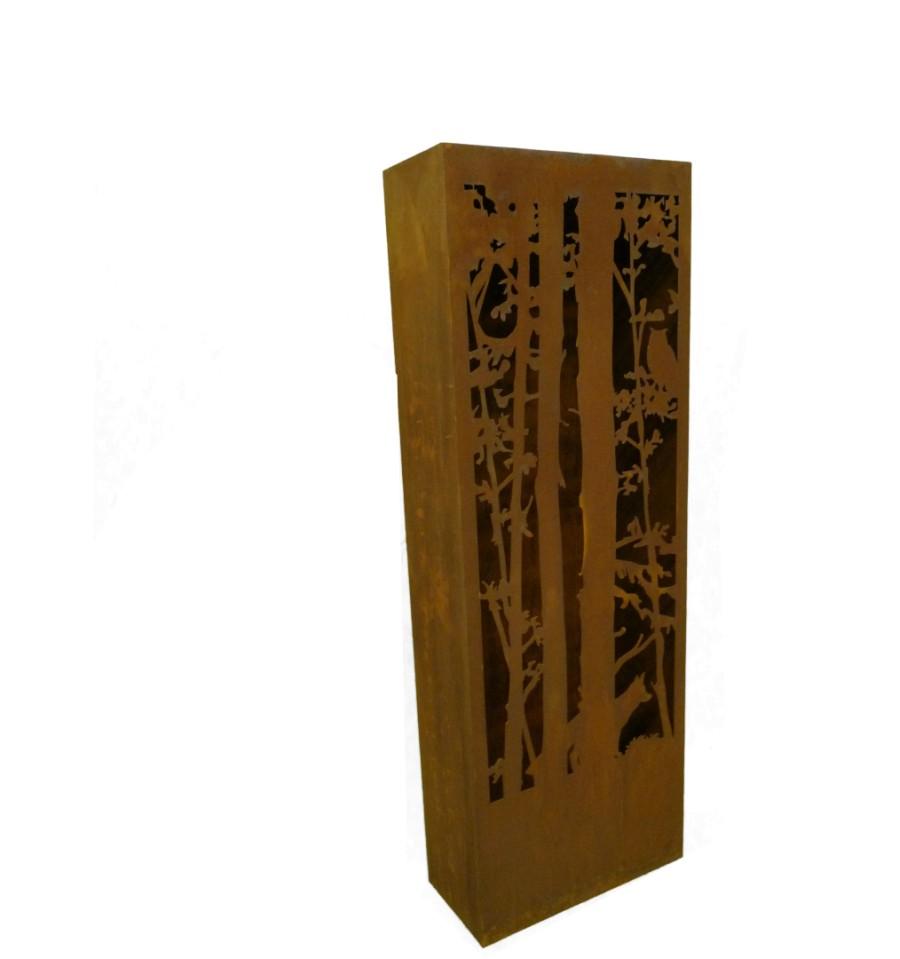 Rost s ule wald und wild 120 cm hoch fuchs metallmichl for Wohndesign sera
