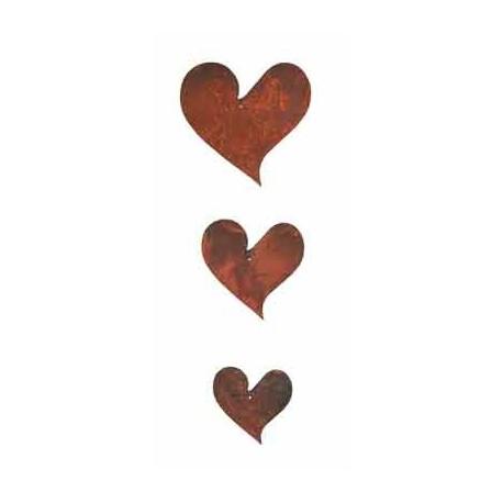 3 tlg. Herzkette geschwungen - Mini -