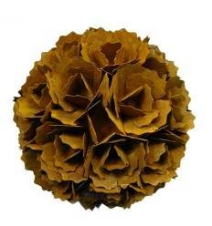 Edelrost Kugel Blume - Ø 30 cm