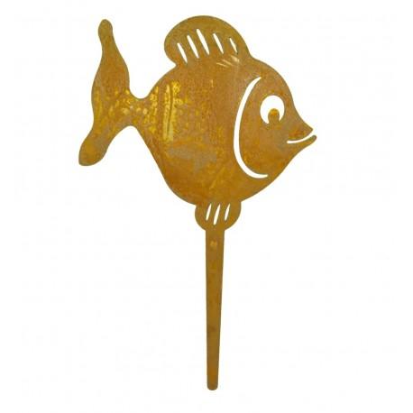 Rost Fischstecker 20 cm - Edelrost Fisch
