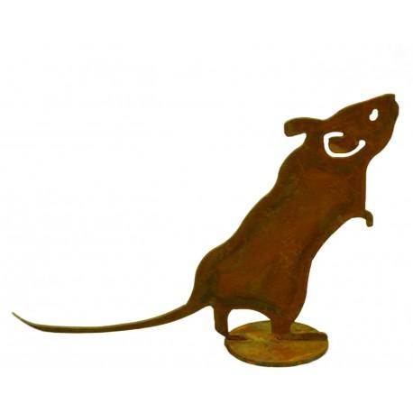 Maus auf Platte 14 cm