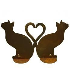 Katze sitzend - bilden ein Herz 1 Stk (kein Set - damit das Herz entsteht müssen Sie den Artikel 2 x bestellen)