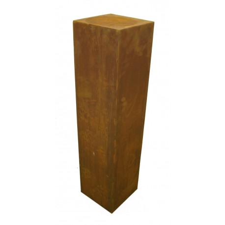 Rostsäule 20 x 20 cm schmal 80 cm hoch ohne Muster