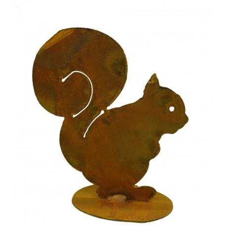 Eichhörnchen Squirrel 15 cm auf Platte