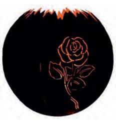 Kugelleuchte Rose 30 cm in Edelrost zum Beleuchten geeignet