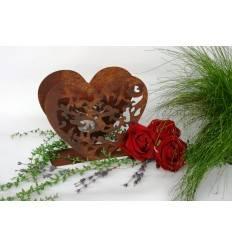 Tischleuchte Herz Luise für Teelicht 18 cm hoch