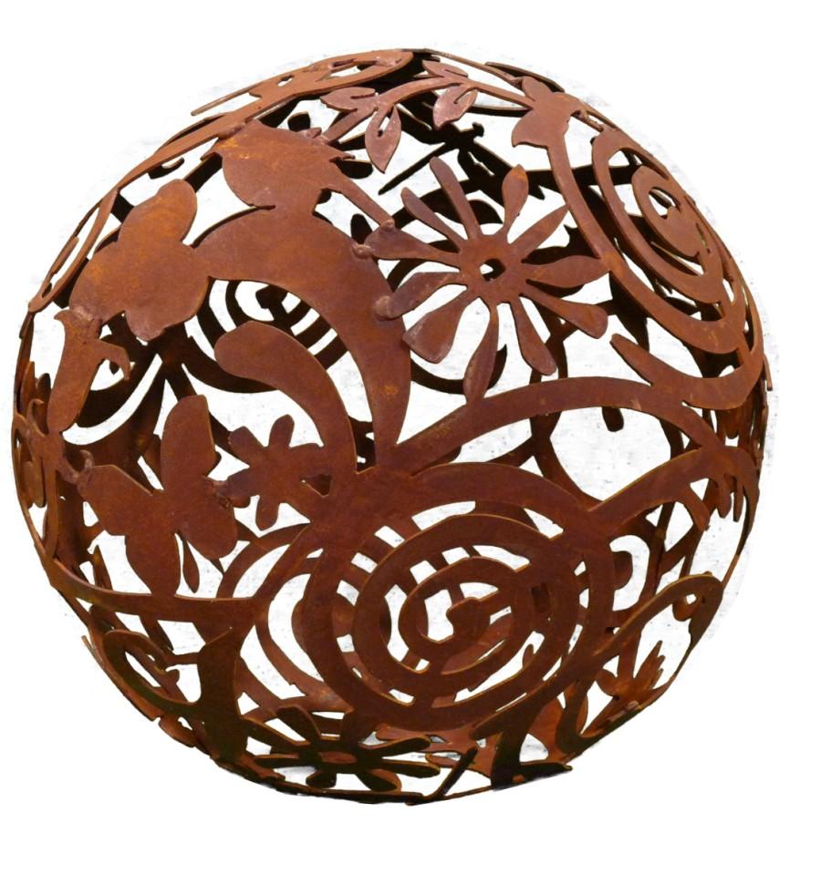 rost gartenkugel 50 cm durchmesser vom metallmichl edelrostshop. Black Bedroom Furniture Sets. Home Design Ideas