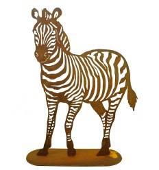 Edelrost Zebra 100 cm hoch