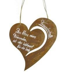 """Rostschild Herz Christine """"Freundschaft Das Herz eines Freundes, ist ein Wohnort für die Seele"""""""