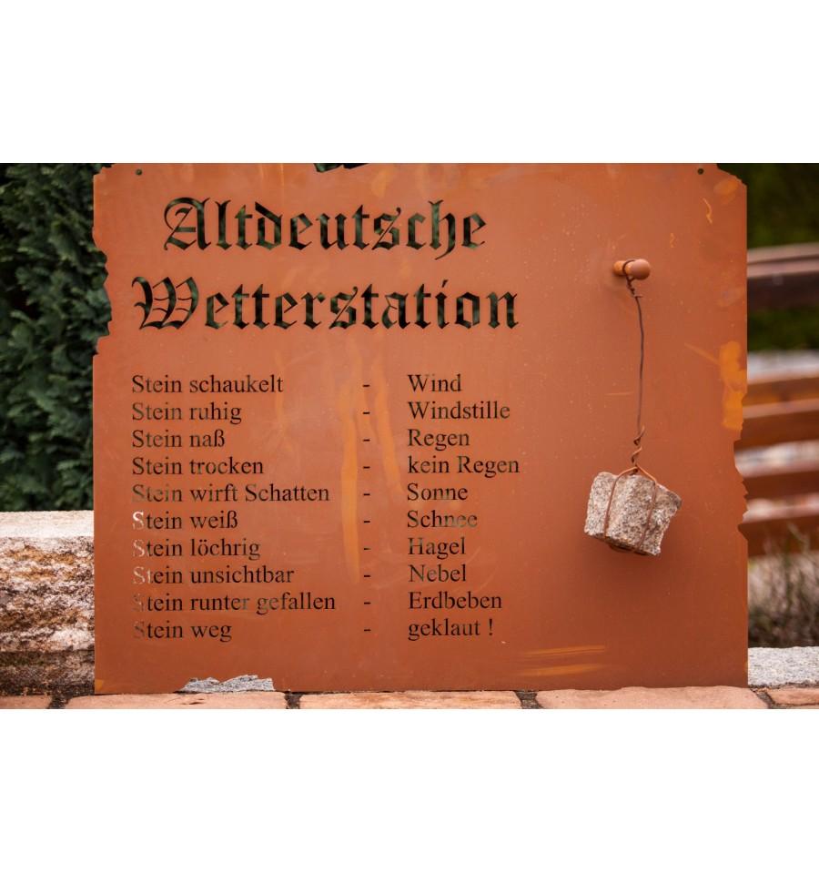 edelrost altdeutsche wetterstation zum h ngen rost vom metallmichl edelrostshop. Black Bedroom Furniture Sets. Home Design Ideas
