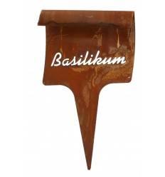 - Basilikum - Kräuterstecker aus Metall