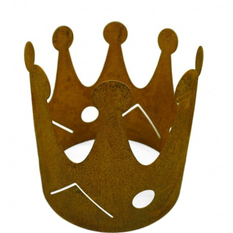 Edelrost krone gartendeko zum bepflanzen gartenidee online for Gartendeko rost krone