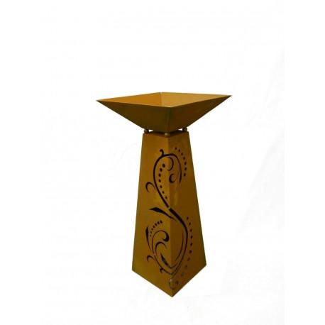 Rostsäule Trapez Lichterzauber 96,5 cm inkl. Schale