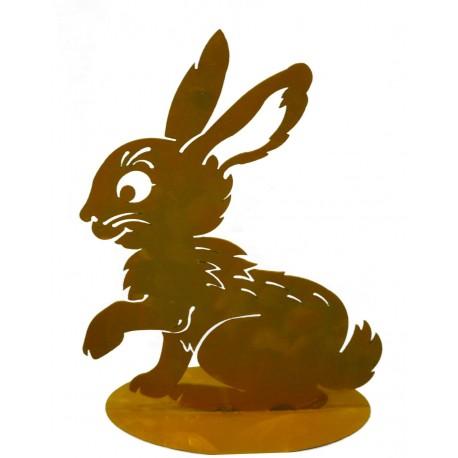 """Rost Kaninchen """"Flecky"""" Edelrost Hase für die rostige Gartendekoration"""