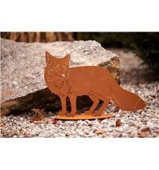 Edelrost Fuchs auf Platte Höhe 34 cm Länge 52 cm